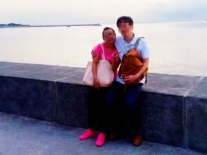 国際結婚予定の美人とマニラ湾にて夕暮れデート