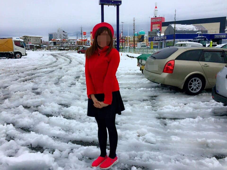 国際結婚し来日した後、冬の季節に雪を体験