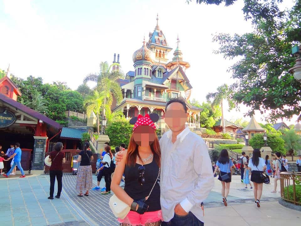 国際結婚した後、香港ディズニーランドへ旅行