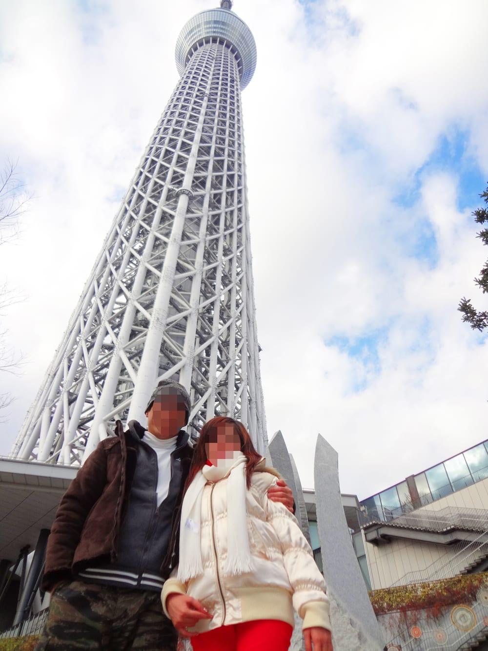 国際結婚し来日した後、東京スカイツリーに観光に行きました