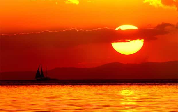 国際結婚希望の女性と楽しむマニラ湾の夕日