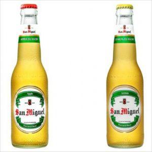 現地のビール サンミゲル アップルフレーバー
