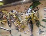 国際結婚希望の女性と食べる料理  バングス 魚のミルク煮
