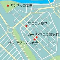 フィリピン観光名所イントラムロスの地図