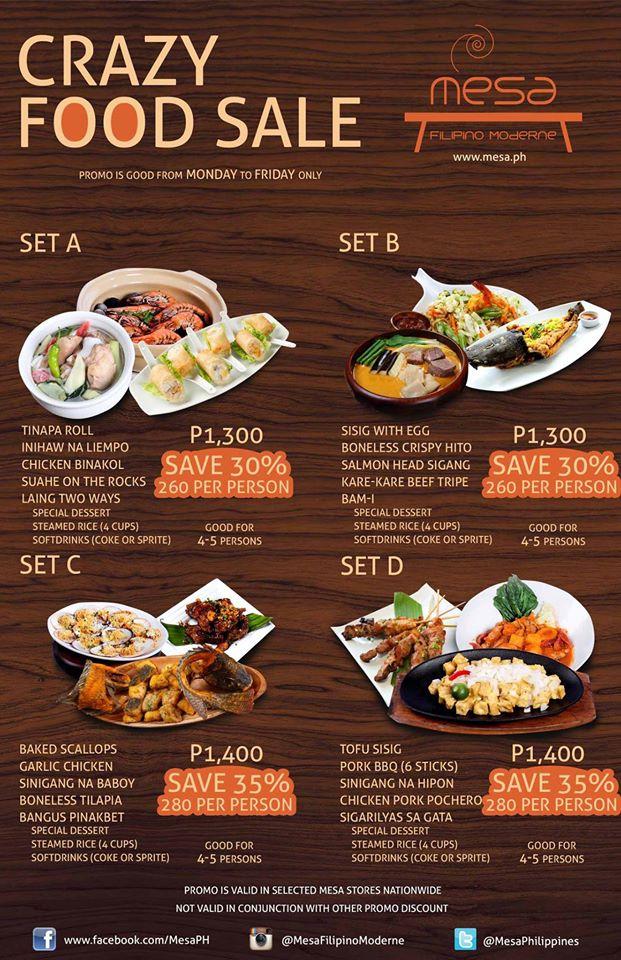 フィリピンのレストラン メサ