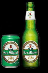 現地のビール サンミゲル プレミアムモルツ