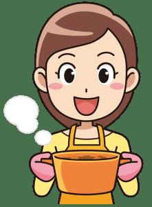 料理をするフィリピン女性