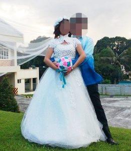 結婚式の記念撮影
