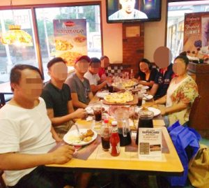フィリピン女性のご家族と会食