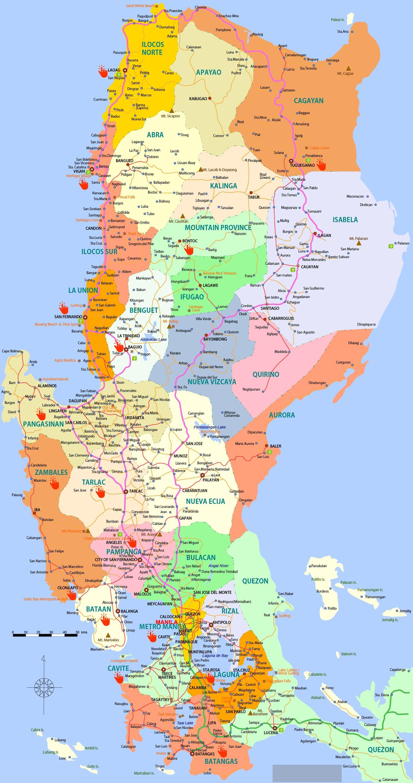 フィリピン・ルソン島の地図 | 国際結婚フィリピン