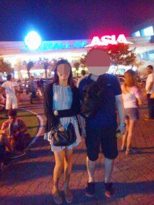 フィリピン女性とモール・オブ・エイジアで楽しむ