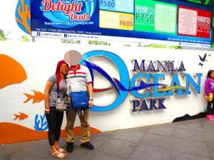 フィリピン女性とオーシャンパークでデート