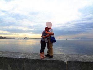 フィリピン女性とベイウォークでデート中