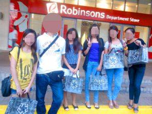 フィリピン女性とお見合い中ショッピング