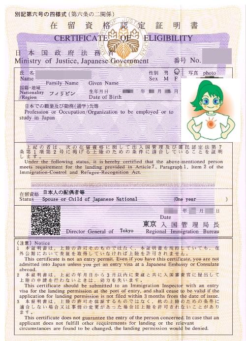 在留資格認定証明書
